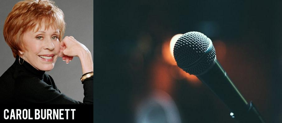 Carol Burnett at Morrison Center for the Performing Arts