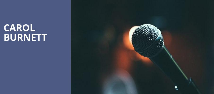 Carol Burnett, Morrison Center for the Performing Arts, Boise